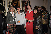 LADY MYNERS; CORNELIA GRASSI; VALERIA NAPOLEONE; FRANCES STARK, Stefania Pramma launched her handbag brand PRAMMA  at the Kensington residence of her twin sister, art collector Valeria Napoleone.. London.  29 April 2015