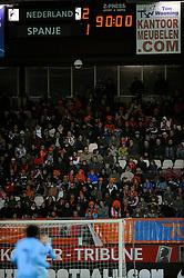 17-11-2009 VOETBAL: JONG ORANJE - JONG SPANJE: ROTTERDAM<br /> Nederland wint met 2-1 van Spanje / Nederland wint met 2-1 scorebord<br /> ©2009-WWW.FOTOHOOGENDOORN.NL