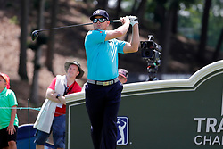 June 22, 2018 - Cromwell, CT, U.S. - CROMWELL, CT - JUNE 22: Chris Stroud of the United States drives from the 18th tee during the Second Round of the Travelers Championship on June 22, 2018, at TPC River Highlands in Cromwell, Connecticut. (Photo by Fred Kfoury III/Icon Sportswire) (Credit Image: © Fred Kfoury Iii/Icon SMI via ZUMA Press)