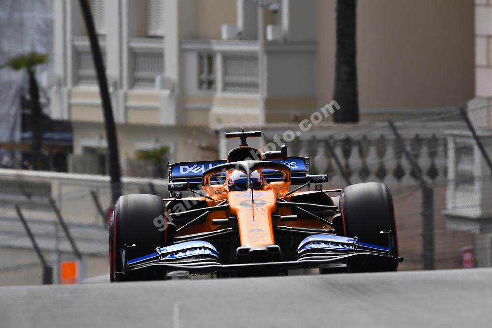 Carlos Sainz Jr (McLaren-Renault) during practice before the 2019 Monaco Grand Prix. Photo: Grand Prix Photo