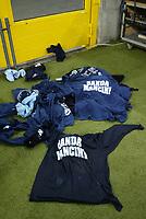 Milano 30-10-2004<br /> <br /> Campionato di calcio Serie A 2004-05<br /> <br /> Inter Lazio<br /> <br /> nella  foto le magliette lanciate dai tifosi della Lazio<br /> <br /> Lazio fans protest against former trainer Roberto Mancini<br /> <br /> Foto Snapshot / Graffiti