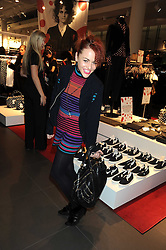 JAIME WINSTONE at a preview of the H&M Comme des Garcons collection held at H&M Regent Stret, London on 12th November 2008.