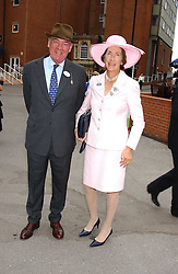 LORD & LADY VESTEY at the King George VI and The Queen Elizabeth Diamond Stakes sponsored by De Beers held at Newbury Racecourse, Berkshie on 23rd July 2005.<br /><br />NON EXCLUSIVE - WORLD RIGHTS