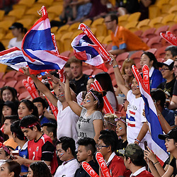 BRISBANE, AUSTRALIA - FEBRUARY 21: Muangthong United FC fans show their support during the Asian Champions League Group Stage match between the Brisbane Roar and Muangthong United FC at Suncorp Stadium on February 21, 2017 in Brisbane, Australia. (Photo by Patrick Kearney/Brisbane Roar)