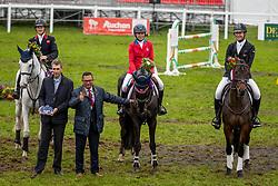 Team Irish Sport Horse, Elisabeth Halliday Sharp, USA, Cooley Moonshine ,Tom McEwen,  Brookfield Benjamin Bo, Jesse Campbell, Global Candy Boy <br /> Mondial du Lion - Le Lion d'Angers 2019<br /> © Hippo Foto - Dirk Caremans<br />  20/10/2019