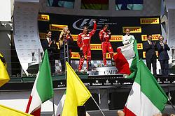 July 30, 2017 - Budapest, Hungary - Motorsports: FIA Formula One World Championship 2017, Grand Prix of Hungary, ..#7 Kimi Raikkonen (FIN, Scuderia Ferrari), #5 Sebastian Vettel (GER, Scuderia Ferrari), #77 Valtteri Bottas (FIN, Mercedes AMG Petronas F1 Team) (Credit Image: © Hoch Zwei via ZUMA Wire)