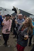 JULIE RUBERY; ( PINK ) RHIA BRUSCHIN, The Cheltenham Festival Ladies Day. Cheltenham Spa. 11 March 2015