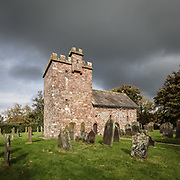 St John the Evangelist's Church, Newton Arlosh, Cumbria. Built as a fortified church or peel tower in 1303 due to the violence and cross-border raids along the Anglo-Scottish border.