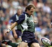 Reading, Berkshire, UK., 19th September 2004, Zurich Premiership Rugby, London Irish vs Leicester Tigers, Madejski Stadium, England, [Mandatory Credit: Pete Spurrier/Intersport Images],<br /> <br /> Mike Catt