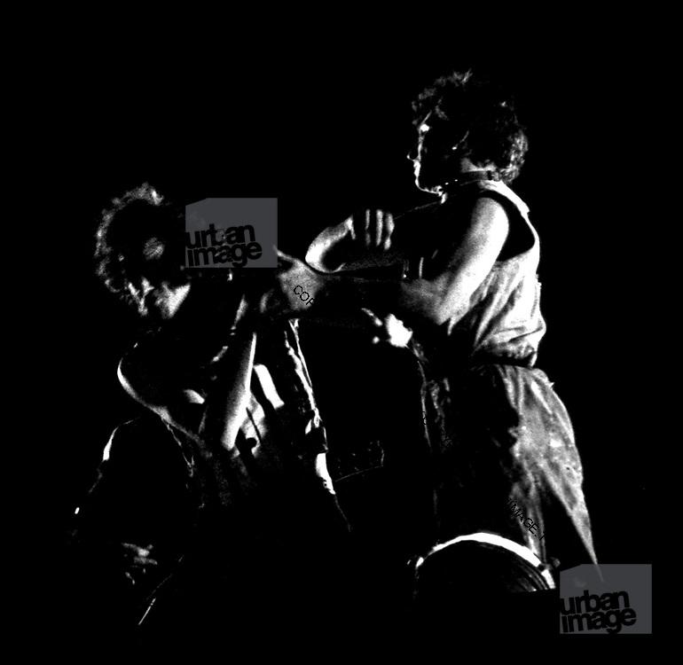 Bob Geldof in fight on stage in London 1979