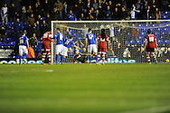 Birmingham City's Paul Caddis (31) scores a penalty for his side during the Skybet football league championship match, Birmingham city v Middlesbrough at St.Andrew's in Birmingham, England on Sat 7th Dec 2013. pic by Jeff Thomas/Andrew Orchard sports photography.