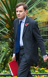 Downing Street, London, November 3rd 2015.  Chief Secretary to the Treasury Greg Hands arrives at 10 Downing Street to attend the weekly cabinet meeting. /// Licencing: Paul@pauldaveycreative.co.uk Tel:07966016296 or 020 8969 6875