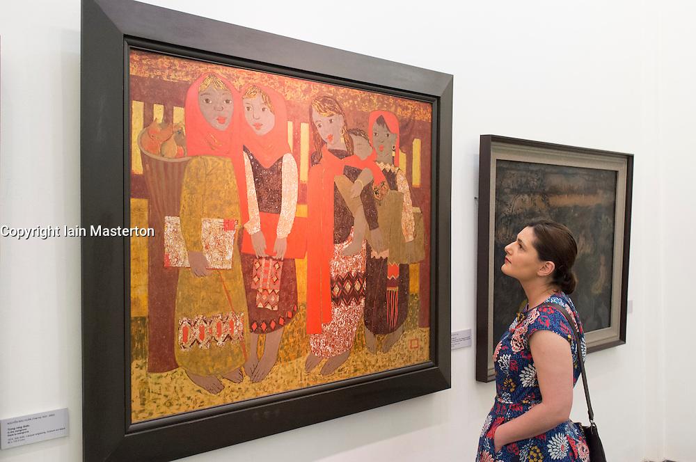 Painting by Doan Van Nguyan at Vietnam Museum of Fine Arts in Hanoi