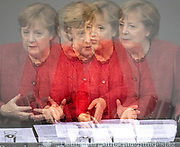 German Chancellor Angela Merkel delivers a speech during a Bundestag session dealing with the federal budget, in Berlin, Germany, December 09, 2020.