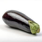 Fresh and organic Eggplant on white background
