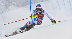 13.11.2016, Black Race Course, Levi, FIN, FIS Weltcup Ski Alpin, Levi, Salalom, Herren, 1. Lauf, im Bild Ramon Zenhaeusern (SUI) // Ramon Zenhaeusern of Switzerland in action during 1st run of mens Slalom of FIS ski alpine world cup at the Black Race Course in Levi, Finland on 2016/11/13. EXPA Pictures © 2016, PhotoCredit: EXPA/ Nisse Schmidt<br /> <br /> *****ATTENTION - OUT of SWE*****