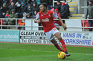 Rotherham United midfielder Grant Ward looks to cross the ball during the Sky Bet Championship match between Rotherham United and Charlton Athletic at the New York Stadium, Rotherham, England on 30 January 2016. Photo by Ian Lyall.