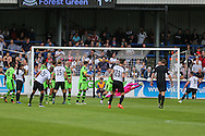 Forest Green Rovers Sam Russell(23) makes a save during the Vanarama National League match between Dover Athletic and Forest Green Rovers at Crabble Athletic Ground, Dover, United Kingdom on 10 September 2016. Photo by Shane Healey.