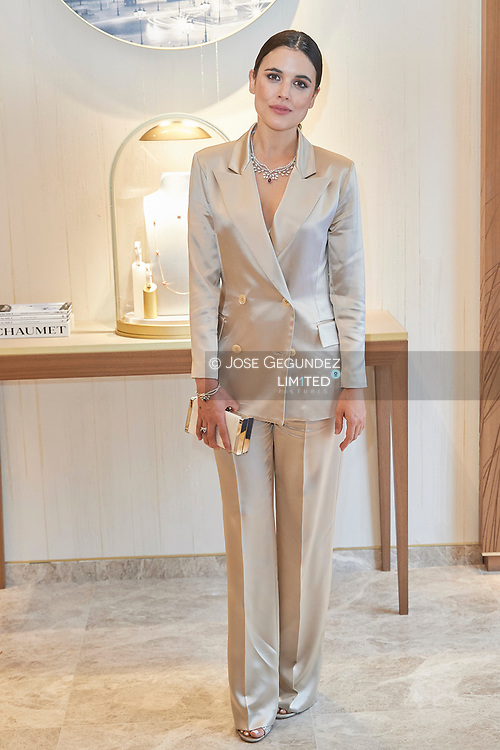 Adriana Ugarte attends Chaumet Paris opening of new boutique store on April 23, 2019 in Madrid, Spain