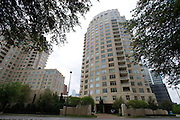 An exterior view of the Tower Residences at the Ritz-Carlton in Dallas on Wednesday, April 17, 2013. (Cooper Neill/The Dallas Morning News)