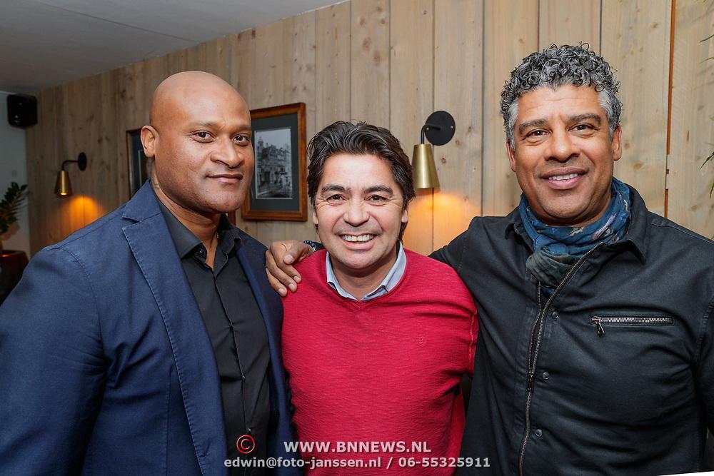NLD/Amsterdam/20190308 - Boekpresentatie Gerard van der Lem, Winston Bogarde, Sonny Silooy en Frank Rijkaard
