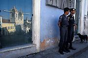 Policemen in the Pelourinho, Portuguese Colonial area, Salvador da Bahia, Brazil