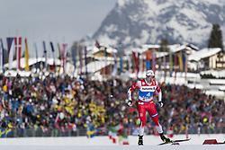 February 21, 2019 - Seefeld In Tirol, AUSTRIA - 190221 Finn HÃ¥gen Krogh of Norway competes in men's cross-country skiing sprint qualification during the FIS Nordic World Ski Championships on February 21, 2019 in Seefeld in Tirol..Photo: Joel Marklund / BILDBYRÃ…N / kod JM / 87880 (Credit Image: © Joel Marklund/Bildbyran via ZUMA Press)