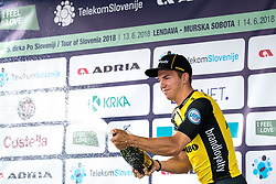 Dylan Groenewegen of Team Lotto NL Jumbo celebrates at ceremony after 2nd Stage of 25th Tour de Slovenie 2018 cycling race between Maribor and Rogaska Slatina (152,7 km), on June 14, 2018 in  Slovenia. Photo by Matic Klansek Velej / Sportida