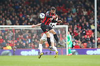 Football - 2018 / 2019 Premier League - AFC Bournemouth vs. Burnley<br /> <br /> Bournemouth's Diego Rico crashes into the back of Ashley Barnes of Burnley to give away a free kick at the Vitality Stadium (Dean Court) Bournemouth <br /> <br /> COLORSPORT/SHAUN BOGGUST