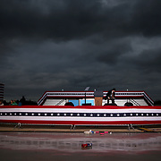 The state is seen after a campaign rally with President Trump and West Virginia congressional candidates at Huntington Tri-State Airport in Ceredo, W.Va., on Friday, November 2, 2018.