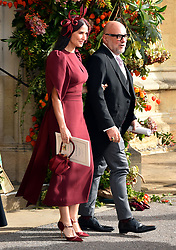Demi Moore and Eric Buterbaugh after the wedding of Princess Eugenie to Jack Brooksbank at St George's Chapel in Windsor Castle.