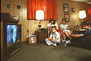 Families waiting for the return of the US hostages held in Iran  in September 1980. Marge German wait for the retern at their home in Rockville Marland.  'they listen to President Jimmy Carter on the nightly news<br />Photo by Dennis Brack. bb77