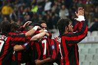 Genova 26/10/2003 <br />Sampdoria Milan 0-3 <br />Rino Gattuso (Milan) claps hands toward Milan fans after goal of 0-2 for Milan<br />Foto Andrea Staccioli / Graffiti