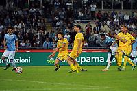 gol di Balde Diao Keita Lazio. Goal celebrations.<br /> Roma 4-10-2015 Stadio Olimpico, Football Calcio 2015/2016 Serie A Lazio - Frosinone. Foto Antonietta Baldassarre / Insidefoto