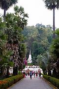 Looking eastward from the Royall Palace towards Mount Phousi, Luang Prabang, Laos.