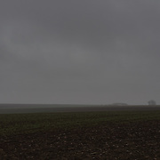 Fields near Pozieres, France in a dark November day. The Battle of Pozières was a two week struggle (23 July – 7 August 1916) by British and Australian divisions for the capture of the village of Pozieres during  the 1916 battle of the Somme.