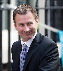 © London News Pictures. 04/09/2012. London, UK.  Jeremy Hunt MP on Downing street on the day of cabinet reshuffle, September 04, 2012. Photo credit: Ben Cawthra/LNP
