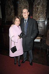 VALERIE KLEEMAN and ALAN WHICKER at a Christmas Carol service in aid of Breast Cancer Haven held at St.Paul's Knighsbridge, Wilton Place, London on 8th December 2009.