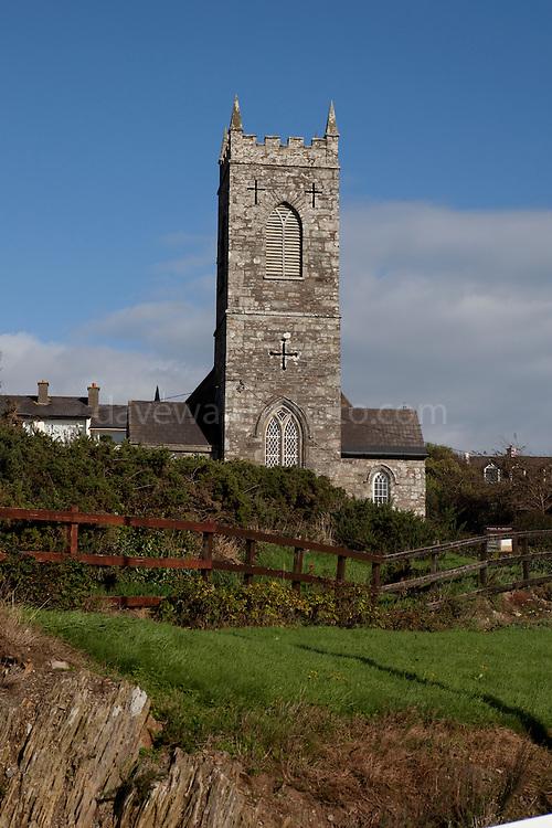 St. Matthew's Church of Ireland, Protestant church, in the fishing village of Baltimore, West Cork, Ireland.