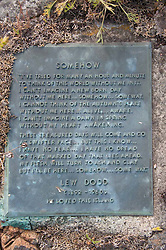 Lew Dodd Tombstone, Yellow Island, San Juan Islands, Washington, US