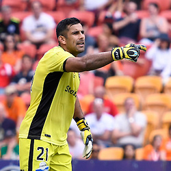 BRISBANE, AUSTRALIA - DECEMBER 11: Jamie Young of the Roar gives instructions during the round 10 Hyundai A-League match between the Brisbane Roar and Adelaide United at Suncorp Stadium on December 11, 2016 in Brisbane, Australia. (Photo by Patrick Kearney/Brisbane Roar)