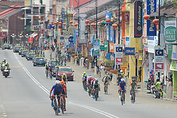 March 24, 2018 - The breakaway seen in Tampin town during the seventh stage, the 222.4 km from Nilai to Muar, of the 2018 Le Tour de Langkawi. .On Saturday, March 24, 2018, in Muar, Malaysia. (Credit Image: © Artur Widak/NurPhoto via ZUMA Press)