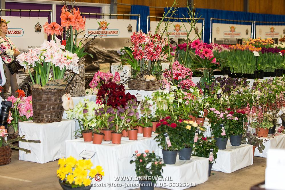 NLD/Heiloo/20180420 - Prinses Margriet bij jubileum Holland Bulb Market, Amarylissen