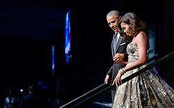 US President Barack Obama (L) and First Lady Michelle Obama (R) arrive to address the Congressional Black Caucus (CBC) Foundation's 46th Annual Legislative Conference on September 17, 2016 in Washington, DC, USA. Photo by Olivier Douliery/Pool/ABACAPRESS.COM