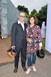 NICK ASHLEY and  at a party hosted by fashion store COS to celebrate The Serpentine Park Nights 2016 held at The Serpentine Gallery, Kensington Gardens, London on 12th July 2016.