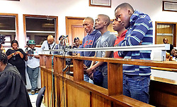 21.04.15. The four suspects in connection with the murder of Mozambican national Emmanuel Sithole appeared today at the Alexandra Magistrates Court. The 35-year-old Sithole was stabbed in Alexandra on Saturday morning and later died in hospital.<br /> <br /> Picture: Dumisani Sibeko