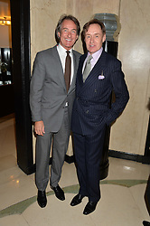 Left to right, TIM JEFFERIES and NICK FOULKES at a reception hosted by The Rake Magazine and Claridge's to celebrate London Collections 2015 held at Claridge's, Brook Street, London on 8th January 2015.