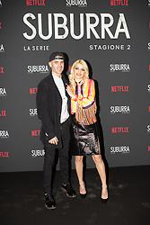 Carlotta Antonelli with her boyfriend at the Red Carpet of the series Suburra 2 at Circolo Degli Illuminati in Rome, Italy, 20 February 2019 .Dress: MSGM  (Credit Image: © Lucia Casone/Soevermedia via ZUMA Press)