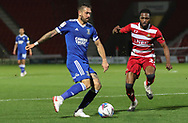 Ipswich Town defender Luke Chambers (4) during the EFL Sky Bet League 1 match between Doncaster Rovers and Ipswich Town at the Keepmoat Stadium, Doncaster, England on 20 October 2020.