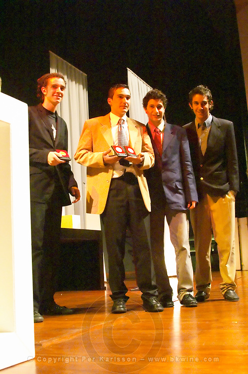 The Pisano team collecting the Uruguay Cata d'Or prize medal Catad'Or of Uruguay, Montevideo, Uruguay, South America